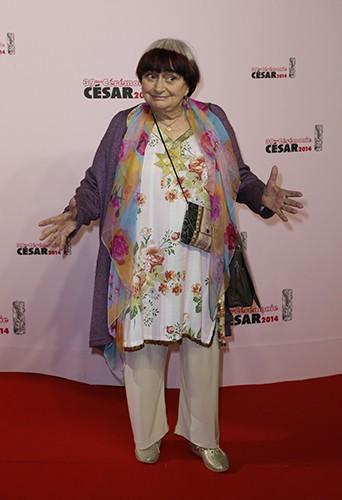 Agnès Varda à Paris le 28 février 2014
