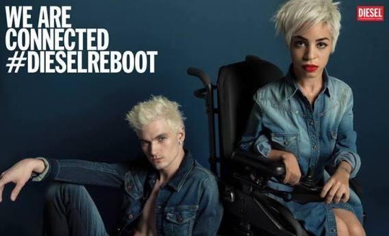 Jillian Mercado, la nouvelle égérie Diesel en fauteuil roulant !