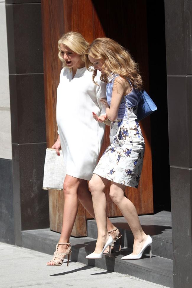 Cameron Diaz sur le tournage de The other Woman à New-York le 4 juin 2013