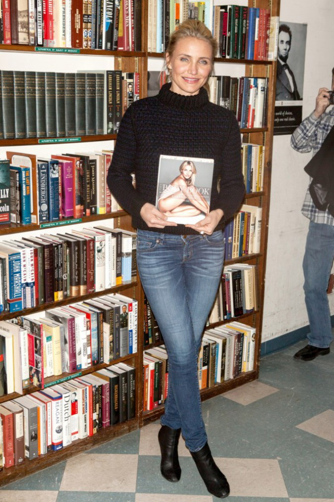 Cameron Diaz en promo pour son livre à New York, le 13 janvier 2014.