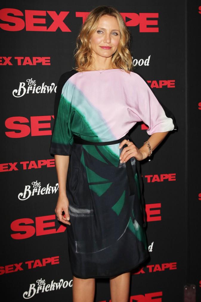 """Cameron Diaz lors de la première du film """"Sex Tape"""" à New York, le 14 juillet 2014."""