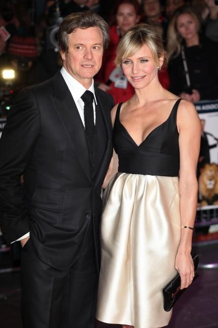 Cameron Diaz et Colin Firth lors de la première du film Gambit à Londres, le 7 novembre 2012.