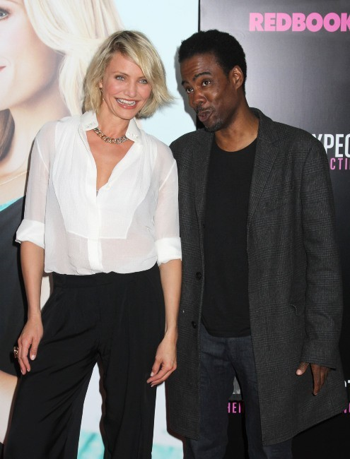 Cameron Diaz et Chris Rock lors de la première du film What To Expect When You're Expecting à New york, le 8 mai 2012.