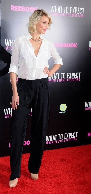 Cameron Diaz lors de la première du film What To Expect When You're Expecting à New york, le 8 mai 2012.