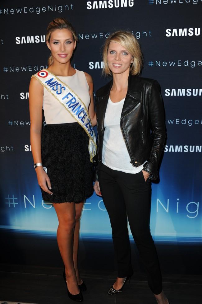 """Camille Cerf et Sylvie Tellier à la """"New Edge Nigh"""" organisée à la piscine Molitor le 15 septembre 2015"""