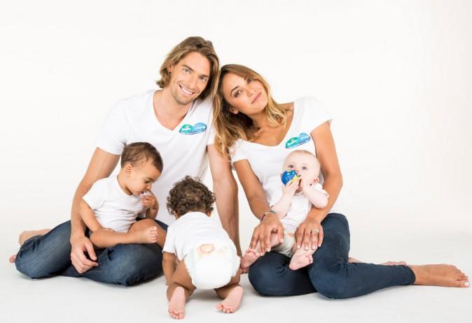 Camille Lacourt et Valérie Bègue s'offrent une séance photo toute mignonne pour soutenir l'Unicef !
