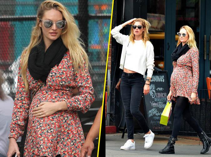 Photos : Candice Swanepoel : Future maman toujours aussi lookée en virée shopping avec Doutzen Kroes !