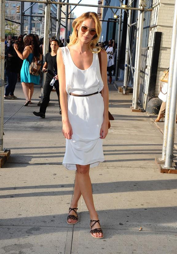 Candice Swanepoel au défilé Diane Von Furstenberg organisé à New-York le 7 septembre 2014