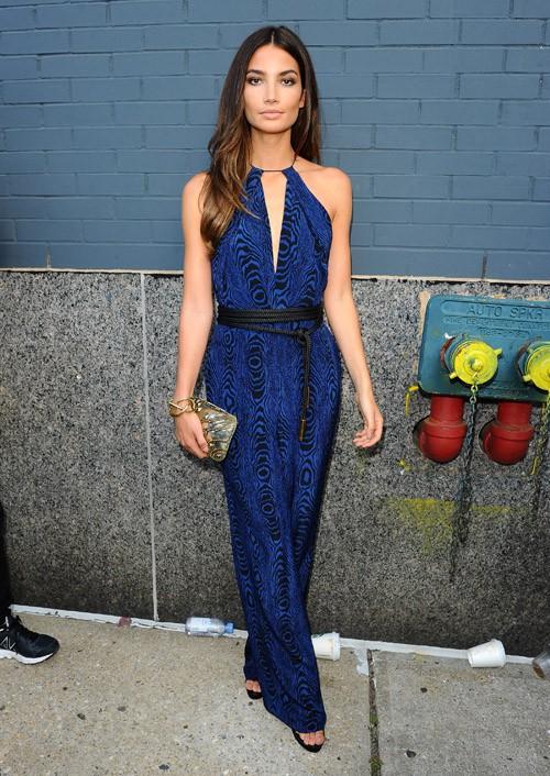 Lily Aldridge au défilé Diane Von Furstenberg organisé à New-York le 7 septembre 2014