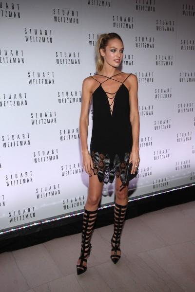 Candice Swanepoel lors de la soirée d'inauguration de l'exposition dédiée à Mario Testino à Boston, le 17 octobre 2012.