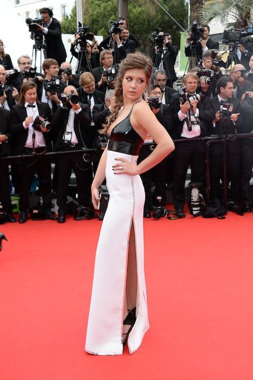Adèle Exarchopoulos en Louis Vuitton pour la première montée des marches du 67ème festival de Cannes