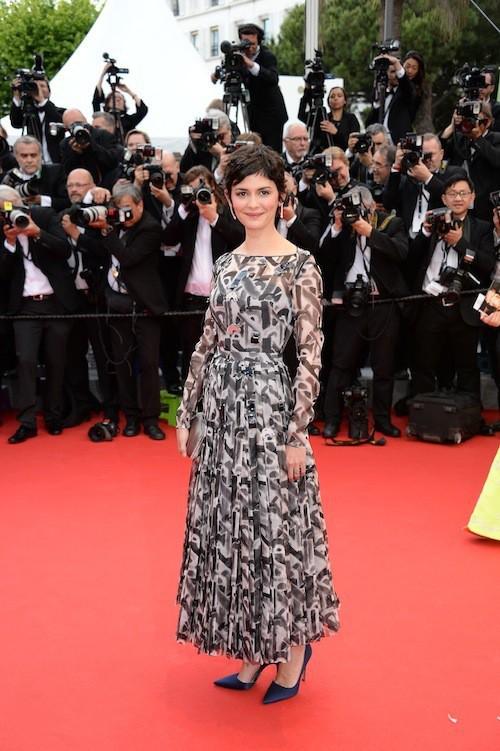 Audrey Tautou pour la première montée des marches du 67ème festival de Cannes