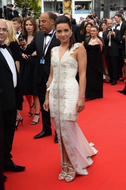 La chanteuse Priscilla pour la première montée des marches du 67ème festival de Cannes