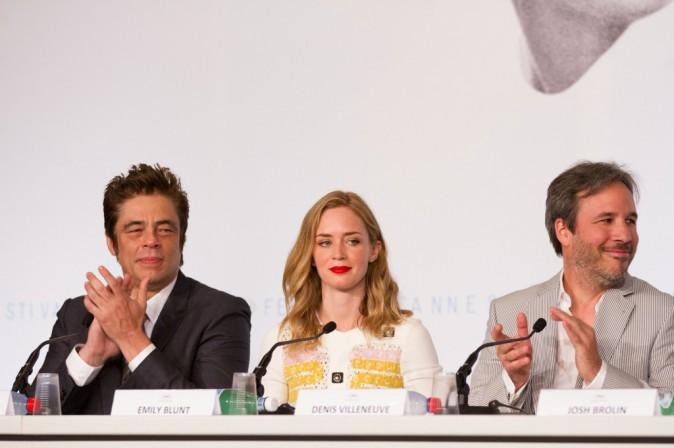 Photos : Cannes 2015 : Emily Blunt souriante et fière de son rôle en conférence de presse !