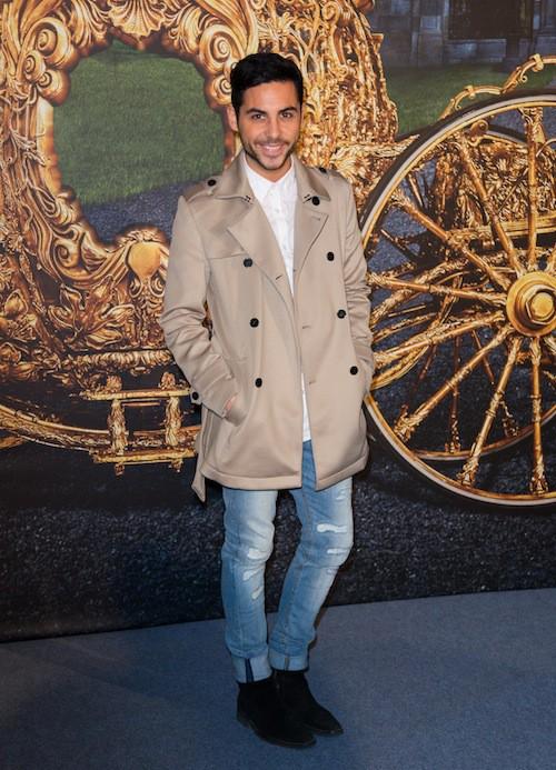 Alban Bartoli à l'avant-première de Cendrillon à Paris, le 22 mars 2015