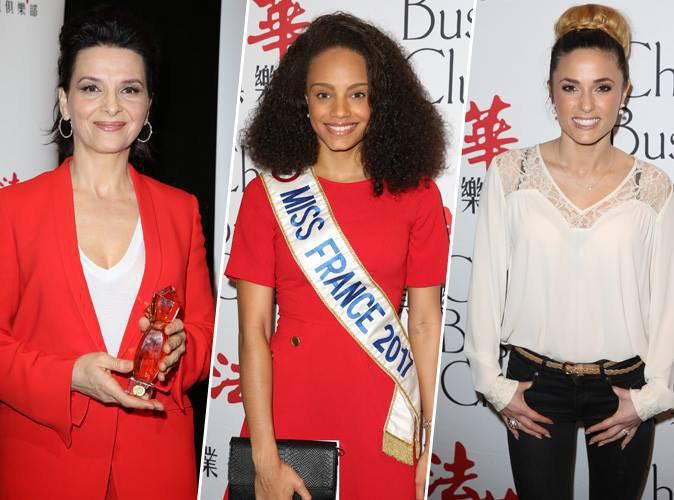 Juliette Binoche à l'honneur, avec la présence de Miss France 2017 et de Capucine Anav au déjeuner du Chinese Business Club