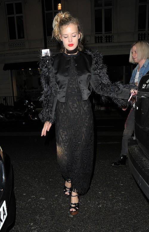 Georgia May Jagger à Londres, le 21 septembre 2015
