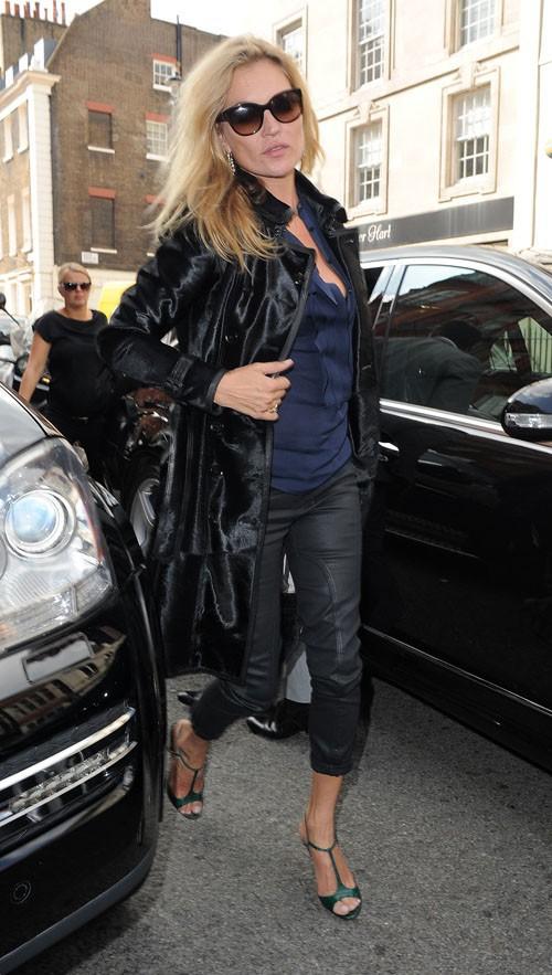 Kate Moss à la Fashion Week de Londres le 15 septembre 2014