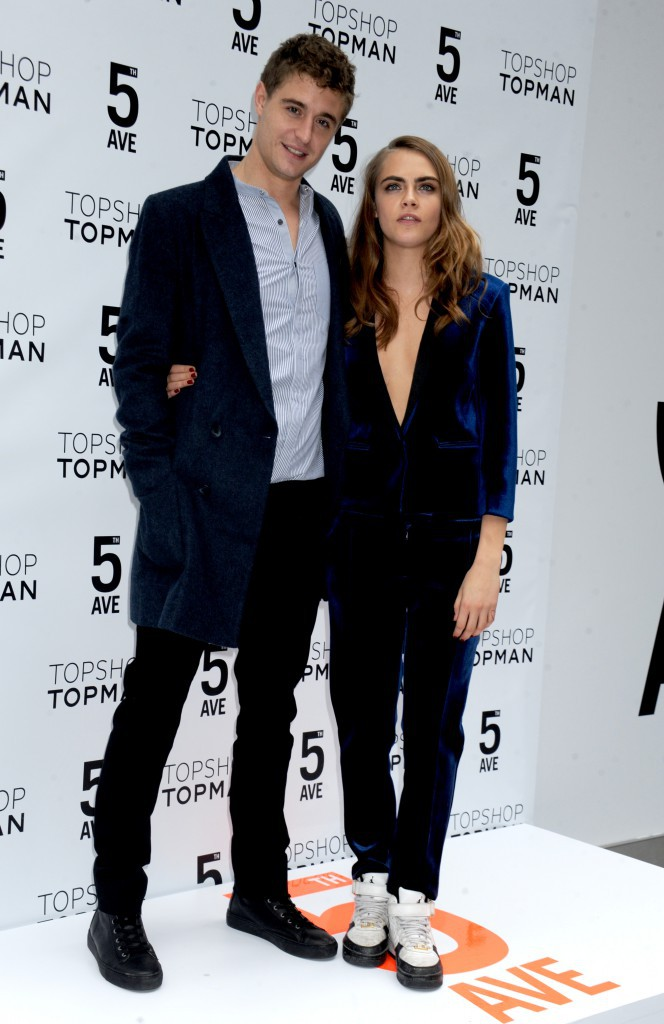 Cara Delevingne et Max Irons le 5 Novembre 2014