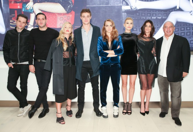 L'équipe de Topshop le 5 novembre 2014