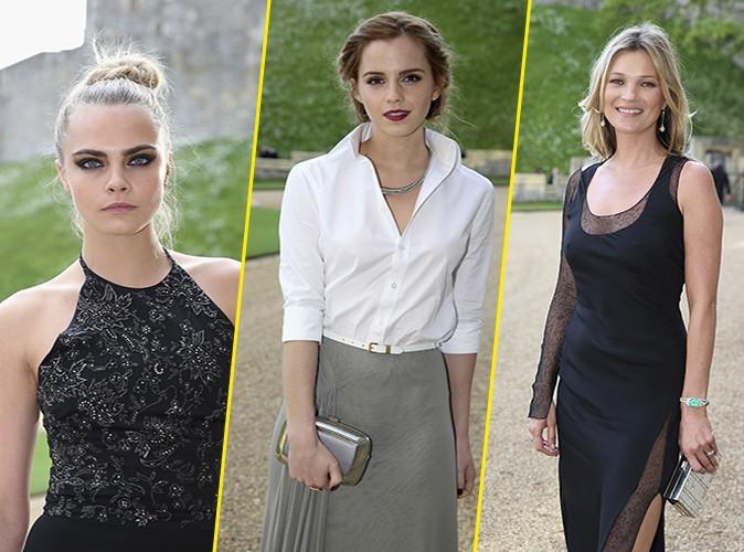 Photos : Cara Delevingne, Emma Watson et Kate Moss : conviées par le Prince William pour une réception chic et distinguée !