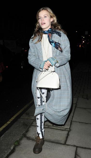 Georgia May Jagger à Londres, le 27 novembre 2013.