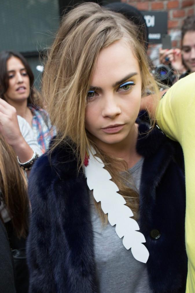 Cara Delevingne à Milan le 18 septembre 2014