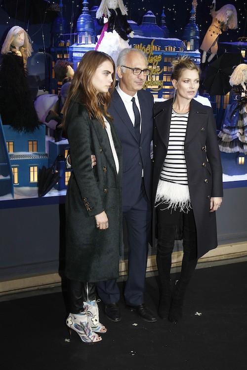 Photos : Cara Delevingne et Kate Moss : duo complice, elles illuminent Paris !