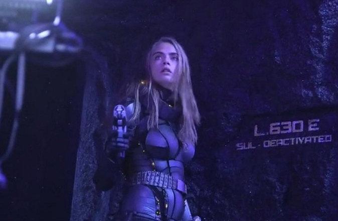 Cara Delevingne sur le tournage de Valérian