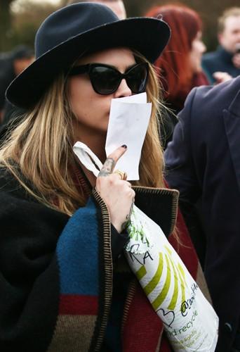 Cara Delevingne à Londres le 17 février 2014