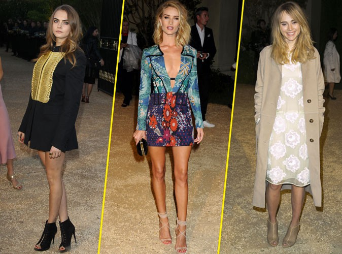 Photos : Cara Delevingne, Rosie Huntington-Whiteley, Suki Waterhouse… Des bombes pour Burberry !