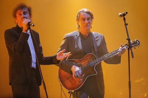Alain Souchon et Francis Cabrel au gala pour la recherche sur Alzheimer