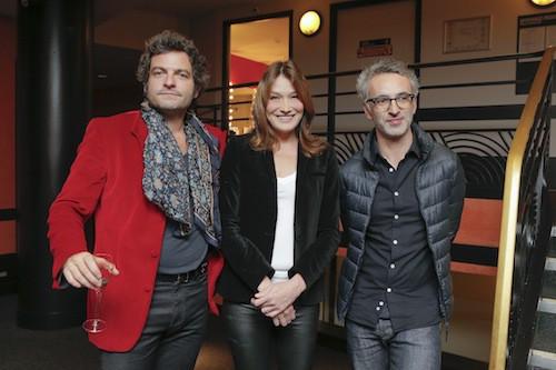 Matthieu Chedid, Carla Brunie et Pierre Souchon au gala pour la recherche sur Alzheimer