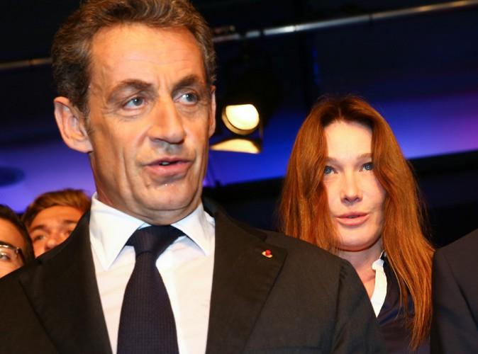 Carla Bruni-Sarkozy : elle reste en retrait pour ne pas voler la vedette à son homme au meeting de Nice !