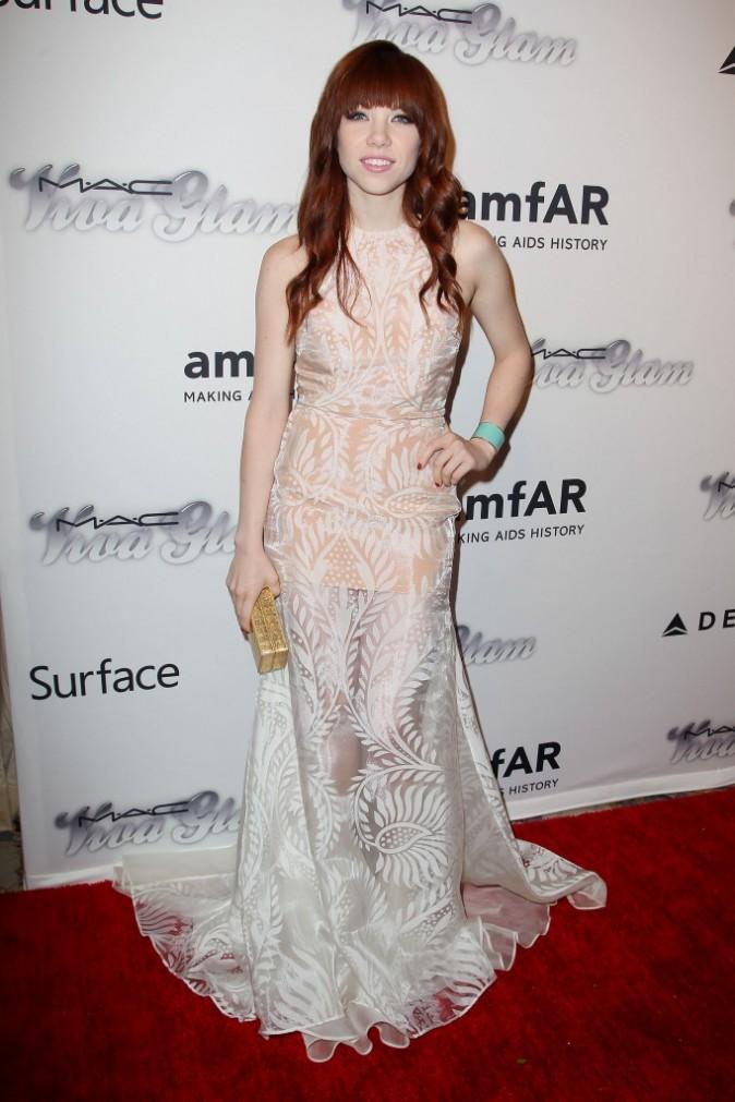 Carly Rae Jepsen lors de l'AmfAR Inspiration Gala à New York, le 13 juin 2013.