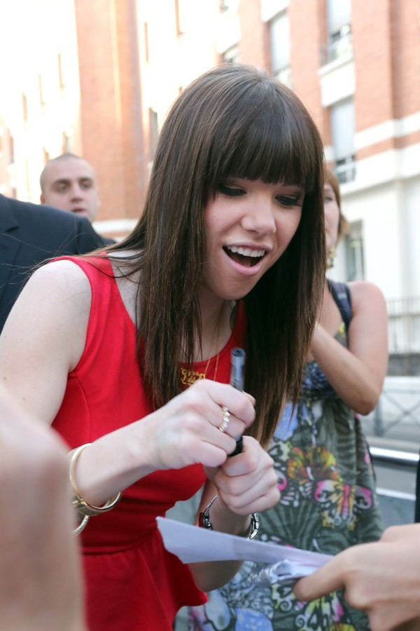 Carly Rae Jepsen à Paris le 7 septembre 2012