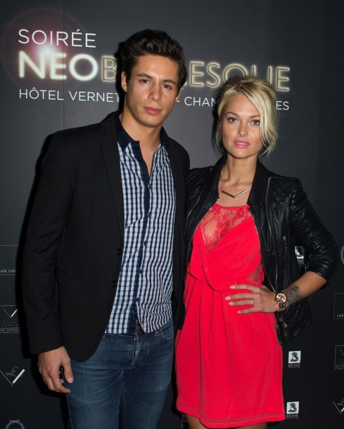 Caroline Receveur et Valentin Lucas lors de la soirée Neo Burlesque à Paris, le 20 mars 2014.