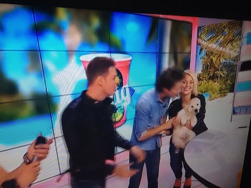 Photos : Caroline Receveur : son Valentin lui rend visite en plein direct avec leur nouveau bébé !