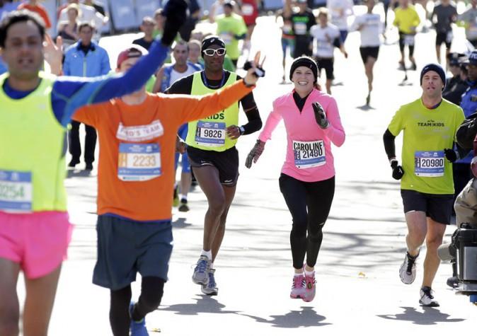 Caroline Wozniacki au marathon de New-York le 2 novembre 2014