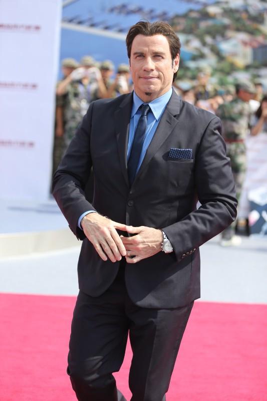 John Travolta lors de l'inauguration de l'Oriental Movie Metropolis Ceremony en Chine, le 22 septembre 2013.