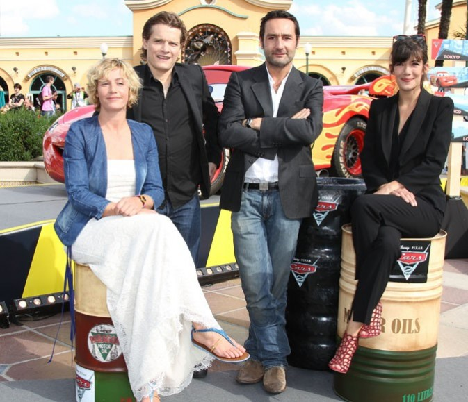 Cécile avec Bénabar, Gilles Lellouche et Mélanie Doutez