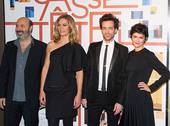 Cédric Klapisch, Cécile de France, Romain Duris et Audrey Tautou à Paris le 25 novembre 2013