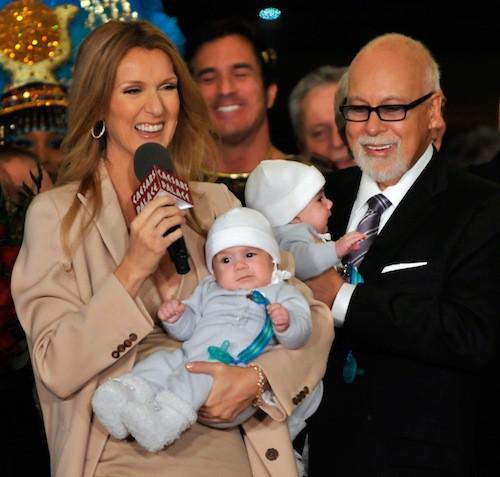 En février 2011, Céline et René présentent leurs jumeaux, Nelson et Eddy