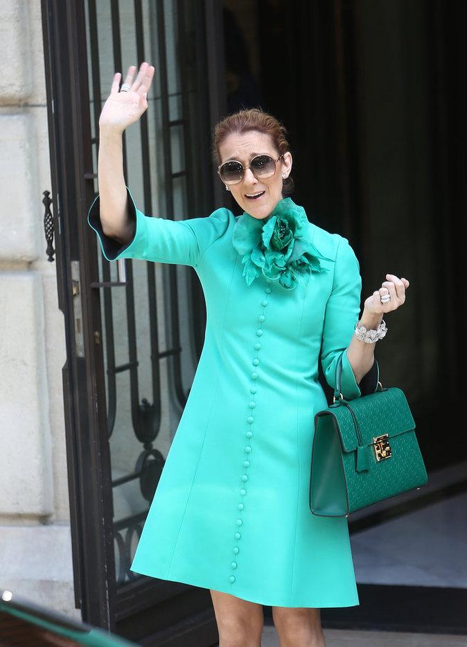 Céline Dion à Paris le 6 juillet 2016