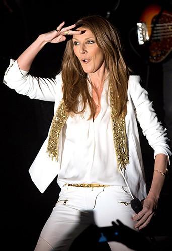 Céline Dion en concert à l'Edison Ballroom de New-York le 29 octobre 2013