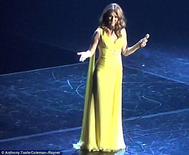 Céline Dion le 24 septembre 2015