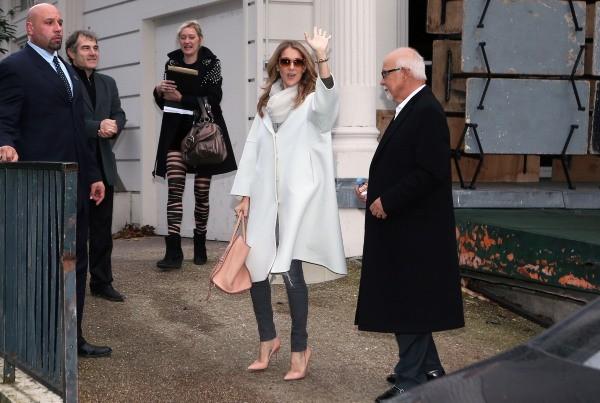 Céline Dion et René Angelil à Paris, le 27 novembre 2012.