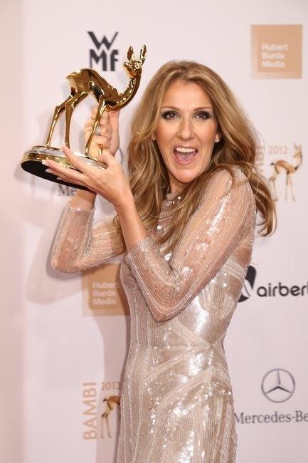 Céline Dion lors des Bambi Media Awards, le 22 novembre 2012.