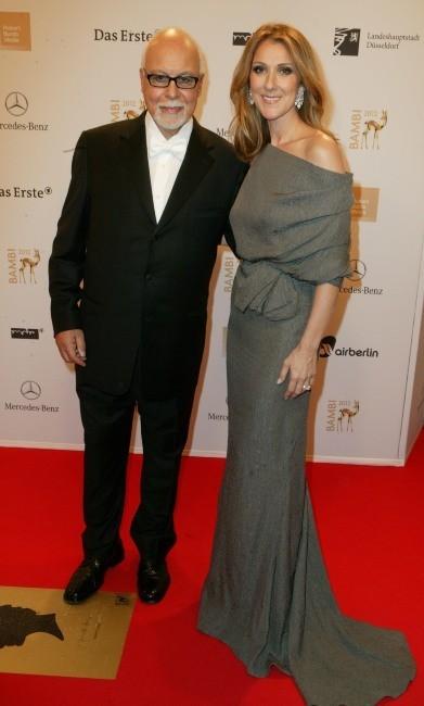 René Angelil et Céline Dion lors des Bambi Media Awards, le 22 novembre 2012.