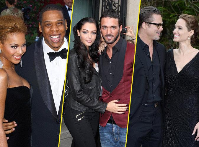 Beyoncé, Jay-Z, Nabilla Benattia, Thomas Vergara, Brad Pitt, Angelina Jolie